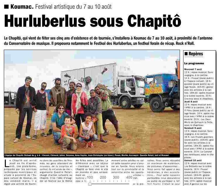 Les Hurluberlus, le 3-08 koumac